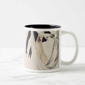 Good Form, No. 1: The Waltz, satirical cartoon Two-Tone Coffee Mug