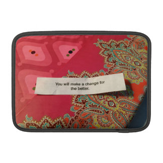 Good Fortune Cookie 🍪  on Pink Boho Paisley Print Sleeve For MacBook Air