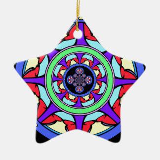 Good Fortune Wheel Ceramic Star Decoration