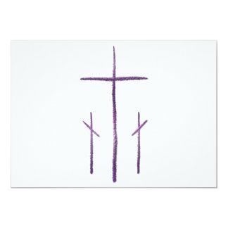 Good Friday - 3 Crosses 13 Cm X 18 Cm Invitation Card