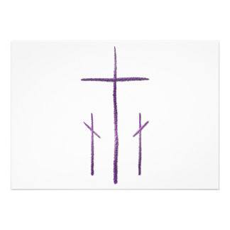 Good Friday - 3 Crosses Personalized Invitation