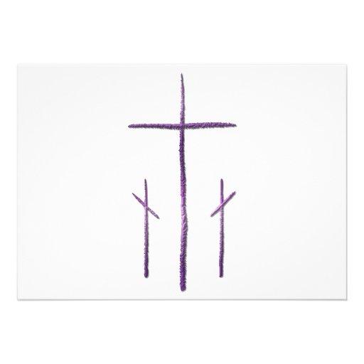 Good Friday - 3 Crosses Personalized Invitation