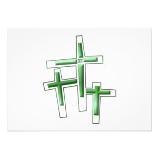 Good Friday - 3 Crosses Personalized Invitations