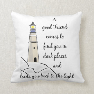 Good Friend Inspirational Quote Cushion