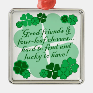 Good Friends and Shamrocks Christmas Ornament