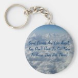 Good Friends Are Like Angels Basic Round Button Key Ring
