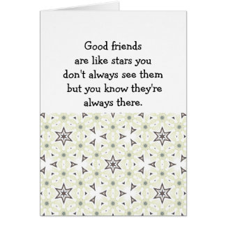 Good friends  are like stars Custom Quote Card