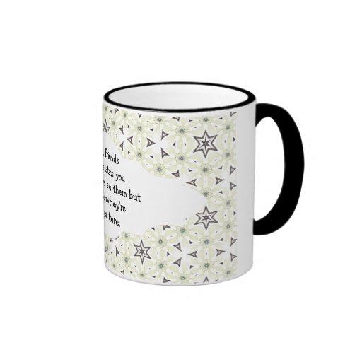 Good friends  are like stars Custom Quote Coffee Mugs