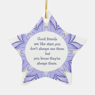 Good Friends are Like Stars Design Quote Christmas Ornament