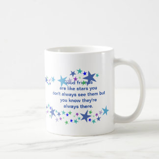 Good Friends are Like Stars Fun Quote Basic White Mug