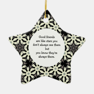 Good Friends are Like Stars Quote Christmas Ornament