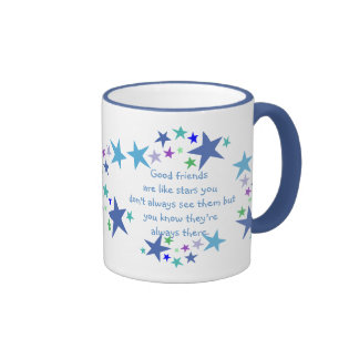 Good Friends are like Stars Quote Ringer Mug