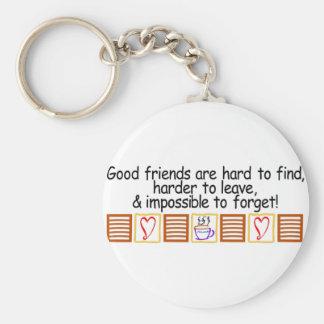 Good Friends Basic Round Button Key Ring