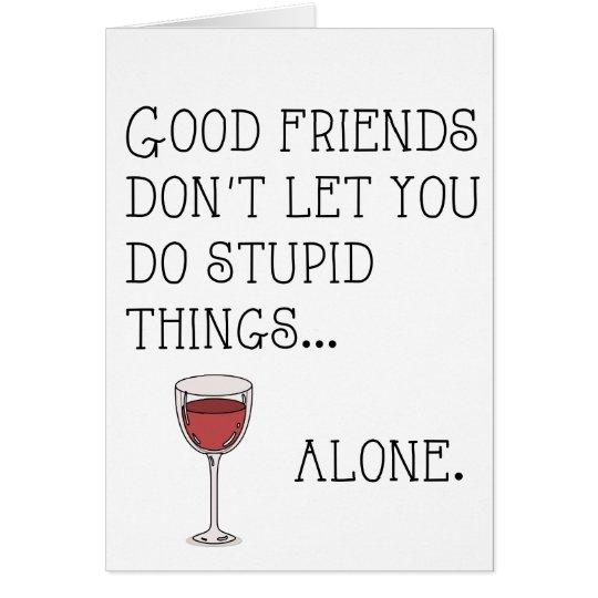 Good friends card