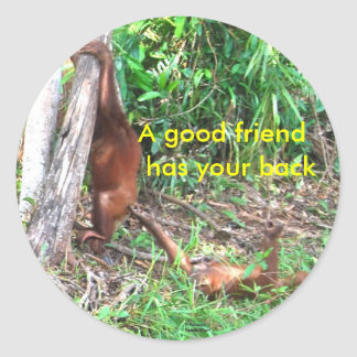Good friends sticker
