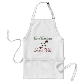 """""""Good Gardener. Great Wife."""" w/ Red Roses [1] Standard Apron"""