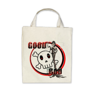 Good Girl Gone Bad - Organic Grocery Tote Tote Bags