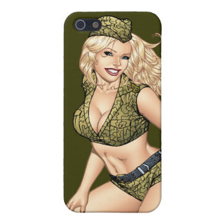 Good Girl Pinup with American Flag by Al Rio Cover For iPhone 5/5S