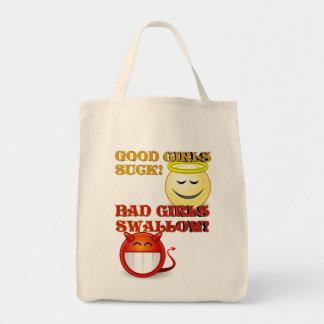 Good Girls Bad Girls Totes Grocery Tote Bag