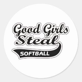 Good Girls Steal (black) Classic Round Sticker