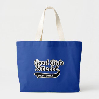 Good Girls Steal (black) Large Tote Bag