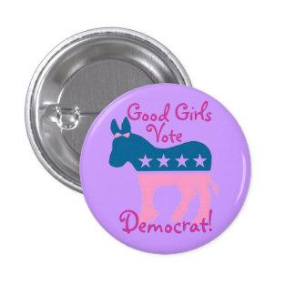 Good Girls Vote Democrat! 3 Cm Round Badge