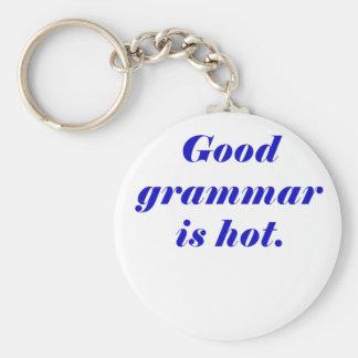 Good Grammar is Hot Basic Round Button Key Ring