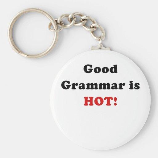 Good Grammar is Hot Keychain