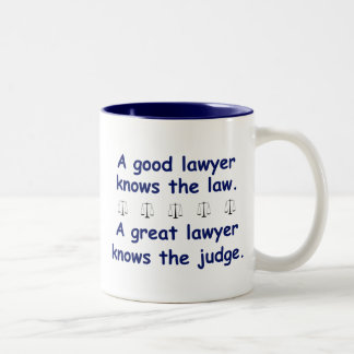 Good/Great Lawyer Two-Tone Coffee Mug