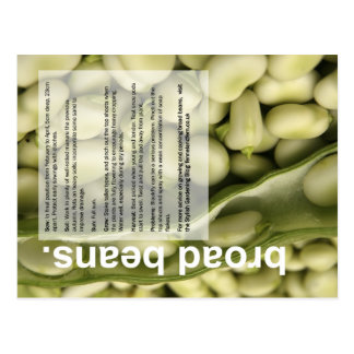 Good Growing Guide: Broad Beans and Salads Postcard