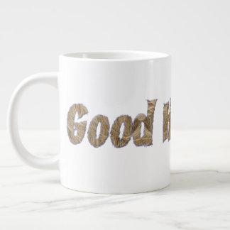 Good Hair Day Funny Realistic Hair Typography Large Coffee Mug