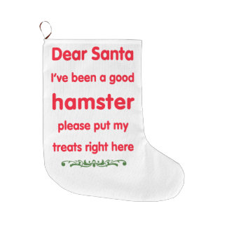good hamster large christmas stocking