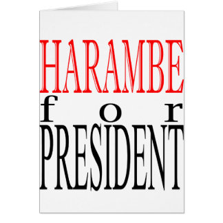 good harambe election president vote guardian gori greeting card