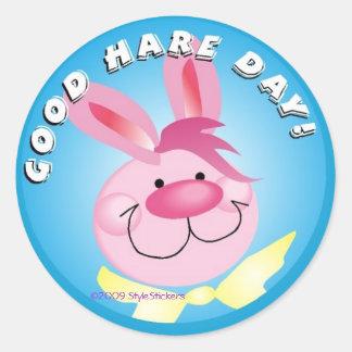 Good Hare Day! StyleStickers™ ©2009 LT Classic Round Sticker