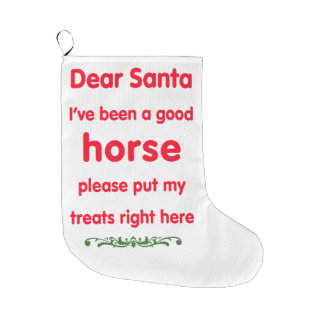 good horse large christmas stocking