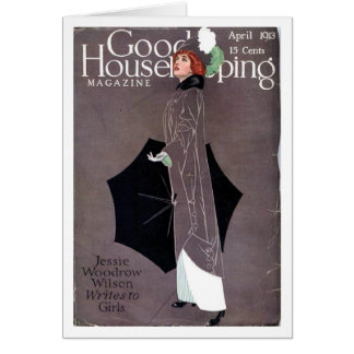 Good Housekeeping April 1913 Coles Phillips cover Greeting Card