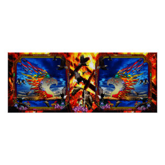 Good Hunting Double Eagle Collage Print