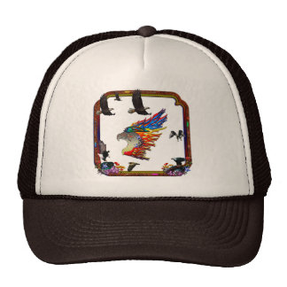 Good Hunting Eagle Arrows and Flowers Frame Hat