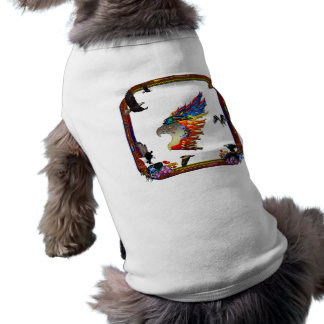 Good Hunting Eagle Arrows and Flowers Frame Sleeveless Dog Shirt