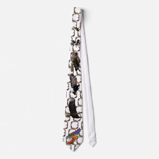 Good Hunting Eagle Arrows and Flowers Frame Tie