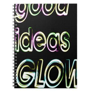 good ideas GLOW in the dark Notebook