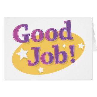 Good Job! Card