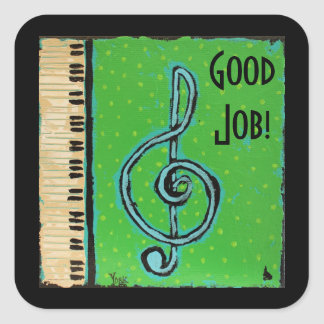 Good Job piano student stickers