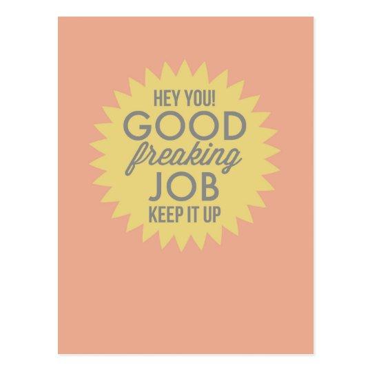 Good Job Yellow & Pink Fun Humour Encouragement