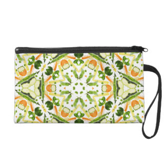 Good karma and well being from a healthy diet 3 wristlet purse