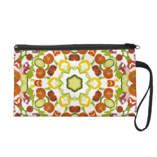 Good karma and well being from a healthy diet wristlet purse