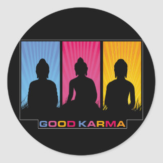 Good Karma Buddhas Classic Round Sticker