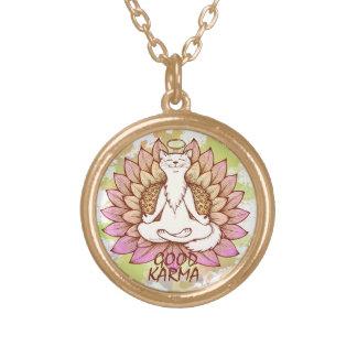Good Karma Round Pendant Necklace