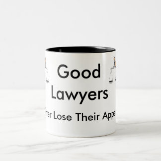 Good Lawyers Never Lose Their Appeal Two-Tone Mug