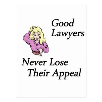 good lawyers woman postcard